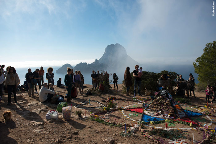 the ceremony in front of the majestic Es Vedra.